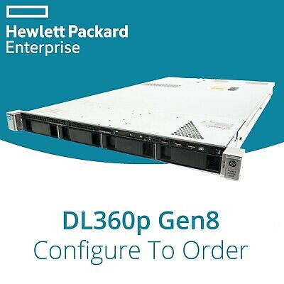 HP DL360p Gen8 G8 2 XEON HEX Core Configurable 64GB RAM P420 1GB Rails 1U Server