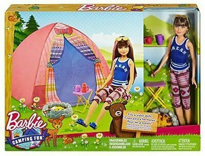 Barbie Sisters Camping Skipper And Tent including Doll - Box Damaged
