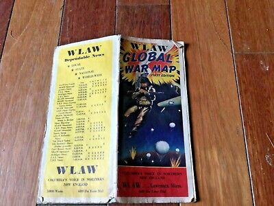 Old WLAW Gobal war map first edition old