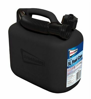 STREETWIZE 5Litre DIESEL FUEL CAN TRAVEL CAR VAN CAMPING EMERGENCY FUNNEL