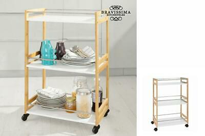 Bravissima Kitchen Bambus Servierwagen