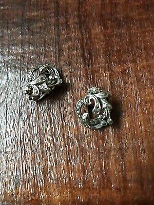 Lovely Antique/Vintage Art Deco style Silver Marcasite Earrings/clips