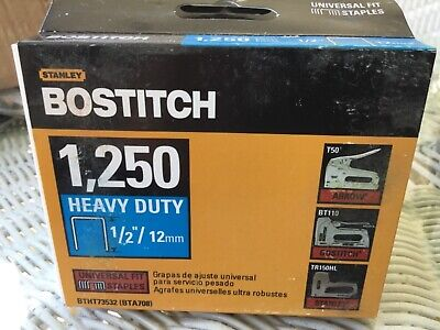 Bostitch Heavy Duty Staples Universal Fit 1/2 Inch X 12 mm