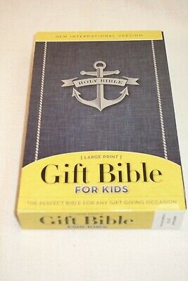 NIV Gift Bible for Kids, Softcover, Large Print, Blue, Softcover