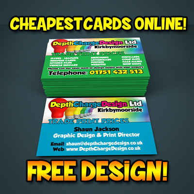 Cheap Priced Business Cards High Quality Digitally Printed Single Double Sided