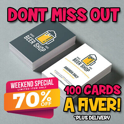 Cheap Priced Business Cards High Quality Digitally Printed Single Double Sided a