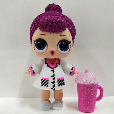 lol doll Big Sister Series Glitter Purple Hair White Dress Kids Birthday Gift