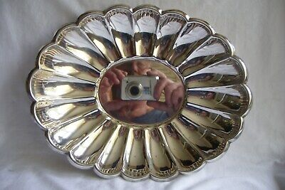 Antique / Vintage A.Ashberry Silver Plated Scalloped Dish.