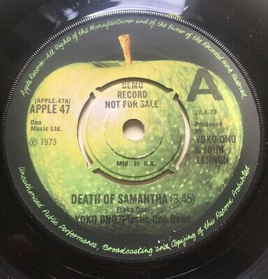 Beatles John Lennon Yoko Ono Death Of Samantha Demo Promo UK Apple 1973