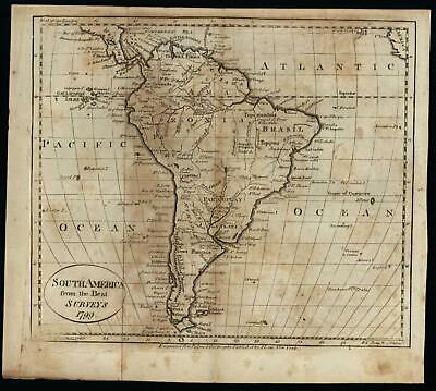 South America continent Amazonia 1799 Scoles engraved map Wheat & Brun #719