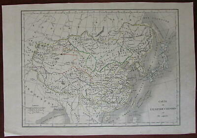 Chinese Empire Japan Tibet Mongolia 1830 engraved map