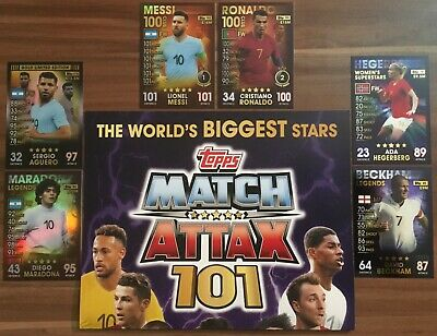 Topps Match Attax 101, Buy 1 Get 10 Cards 80% Cheaper, 100 Club, Limited Edition
