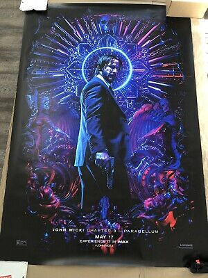 John Wick 3 Parabellum Bus Shelter Double Sided Imax Poster 4x6 Feet