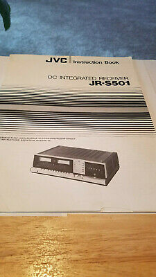 JVC JR-S501 Instruction Book Very Good Condition W/Free Shipping