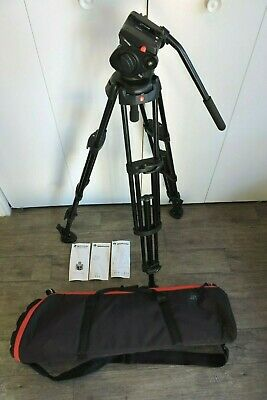 Manfrotto 501hdv Head W/ 546B 2-Stage Aluminum Tripod System + Case READ BELOW
