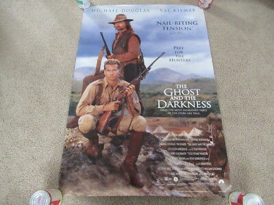 VINTAGE 90s The Ghost & the Darkness Promo Video Movie Poster Michael Douglas