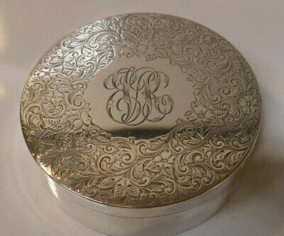 Gorgeous Shreve Crump & Low Co. Sterling Silver Ornate Round Box