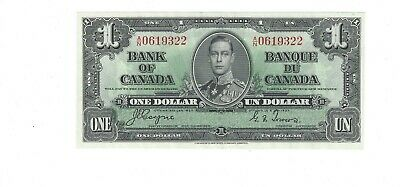 Bank of Canada 1937 $1 BC-21d UNC