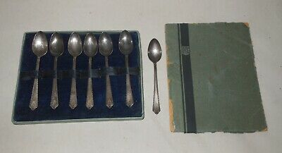 1927 Set of 7 Pageant Holmes & Edwards Silver Plate Demitasse Coffee Tea Spoons