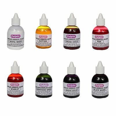 Culpitt Edible Airbrush Spray Colours for Decorating Cake Icing and Sugarpaste