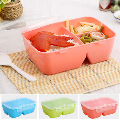 Kids Childrens Plastic Bento Lunch Boxes - Snacks Packed Lunch Box/Bags