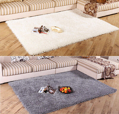 Cosy Fluffy Shaggy Rugs Soft Furry Thick Non Shed Living Room Bedroom Floor Mat
