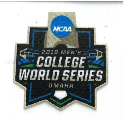 2019 College World Series Patch Baseball Omaha Full Color Embroidered Ships Now!