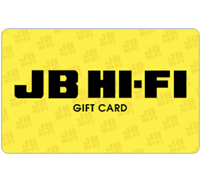 5% off JB Hi-Fi Gift Card $30 $50 or $100 - Email Delivery