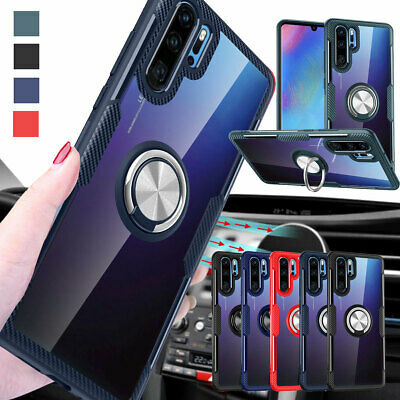 Hybrid Shockproof Rubber Magnetic Ring Case Cover For Huawei P30 P20 Lite Pro
