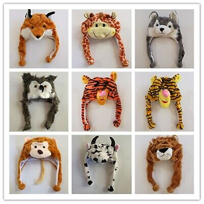 Fancy Animal Hats Winter WarmHat Party Costume Halloween Beanie Cap Wildlife Zoo