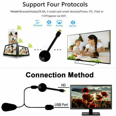 Dispositivo Cromecast Miracast Wireless Hdmi Mirror Share Wifi Streaming Player