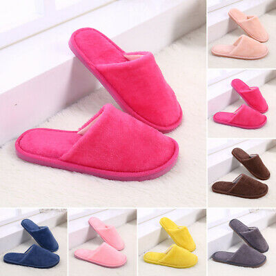 Men Women Indoor House Winter Slippers Comfy Soft Home Bedroom Plush Warm Shoes