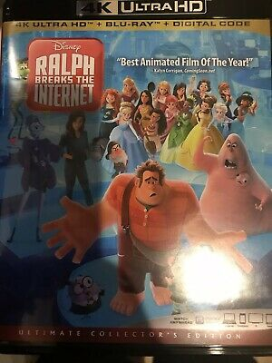 Disney Pixar Wreck It Ralph 2 Ralph Breaks The On 4K w/case artwork (No BluRay)
