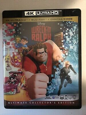 Disney Pixar Wreck It Ralph On 4K w/case artwork (No BluRay)