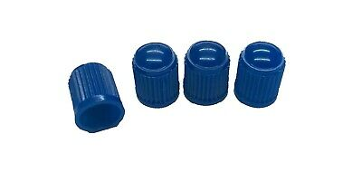 4 x Dark Blue Plastic Dust Caps Suits Standard Tyre Valves Car,Van,Motorcycle