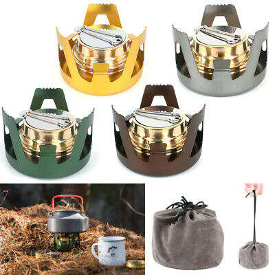 Outdoor Survival Alcohol Stove Burner Backpacking Portable Burning Camping Stove
