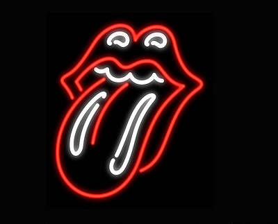 Rolling Stones Neon Signs Beer Wall Decor Gift Bar Pub Light  Store Party Room