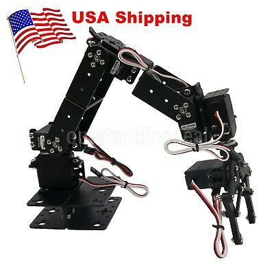 6 DOF Arm Mechanical Robotic Arm Clamp Claw Mount Kit for Arduino US^
