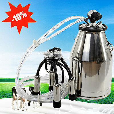 Cows Milker Portable Milking Machine Barrel Stainless Bucket Large Capacity CE
