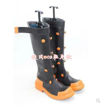 Girls Boys Punk Japanese Cartoon Cosplay Riding Military Combat Knee High Boots
