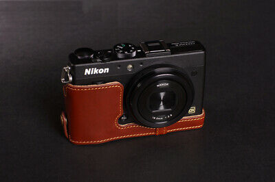 Vintage Leather Half Case Camera Body covers Fit For Nikon Coolpix A open bottom