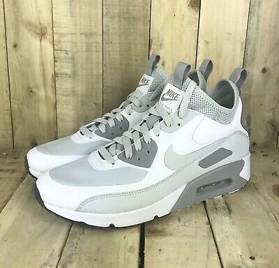 Details about Nike Air Max 90 Ultra Mid Winter White Platinum Wolf Grey 924458 100 Size 8.5