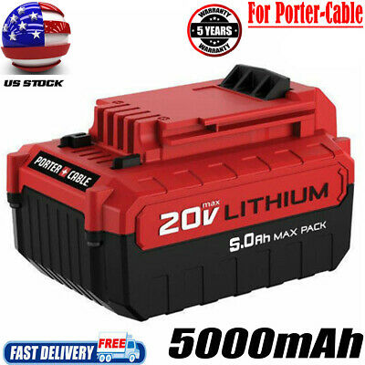 PCC680L 5.0AH BATTERY FOR Porter Cable 20 Volt MAX PCC682L PCC685L Lithium Tools
