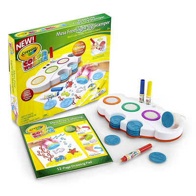 New Crayola Color Wonder Mess Free Light-Up Stamper Creative Set & Pens Official