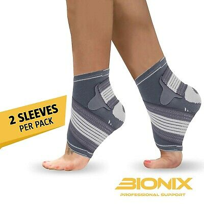 Ankle Support Brace Compression Achilles Tendon Strap Foot Sprains Injury Pair