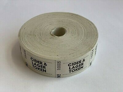 Cider & Lager Roll Tickets for Tokens coupons vouchers tickets