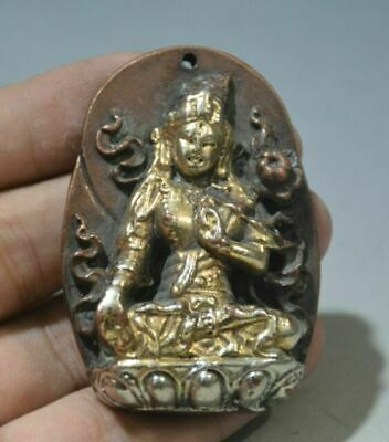 China Copper Pure Bronze hand-made Buddhism Pendant