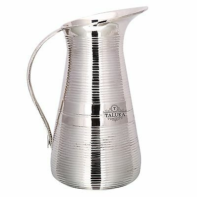 Pure Brass Nickel Plated Jug Pitcher 1500 ML Water Storage Container Hotel Home