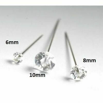 100 DIAMANTE Diamonte PINS   6mm Heads, (4cm/1.5inch) Wedding Bouquets, Florist