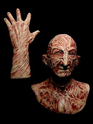 2 Pc. Combo Deal Freddy Inferno VS. Silicone Krueger Mask & Hand By WFX